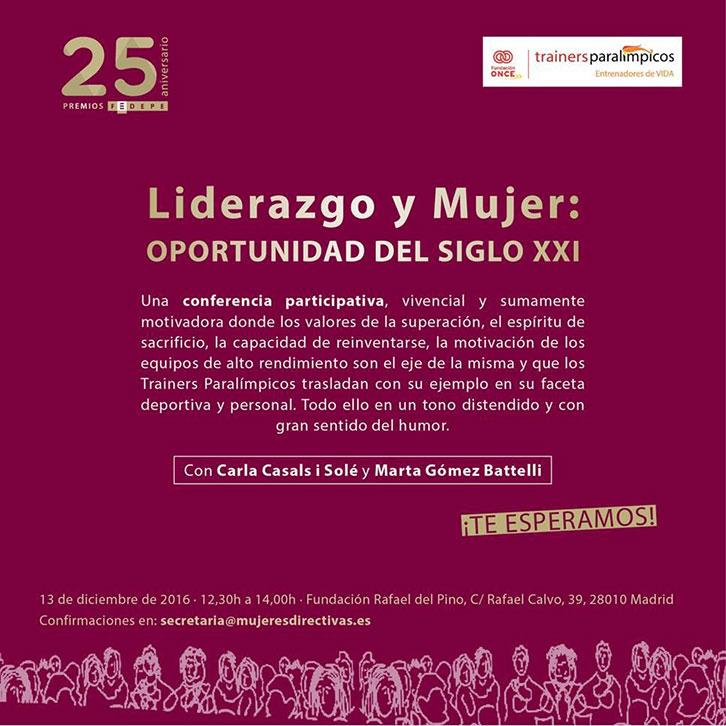 Invitación_Liderazgo_y_Mujer_ONCE-FEDEPE
