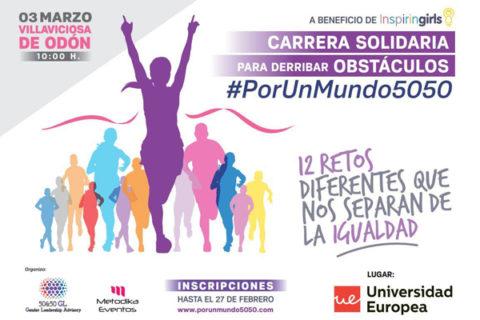 CORREMOS #PORUNMUNDO5050 PARA ACABAR CON LAS BARRERAS
