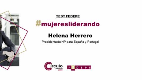 TEST FEDEPE A HELENA HERRERO: «LAS MUJERES FORMAMOS PARTE DE LA SOLUCIÓN, NO DEL PROBLEMA»